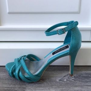 White House Black Market Shoes - WHBM Turquoise Heels Sandals Shoes 7 1/2